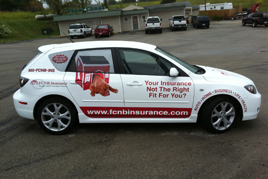 FCNB Vehicle Wrap – Mazda 3